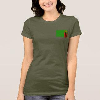 Camiseta T-shirt da DK da bandeira e do mapa da Zâmbia