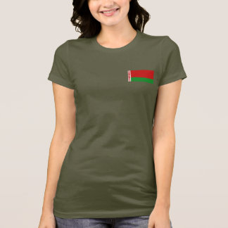 Camiseta T-shirt da DK da bandeira e do mapa de Belarus