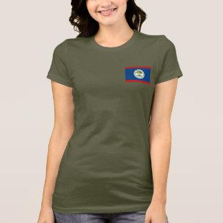 Camiseta T-shirt da DK da bandeira e do mapa de Belize