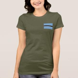 Camiseta T-shirt da DK da bandeira e do mapa de Botswana