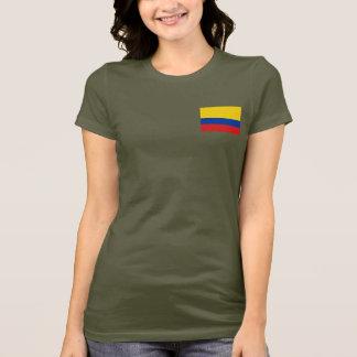 Camiseta T-shirt da DK da bandeira e do mapa de Colômbia