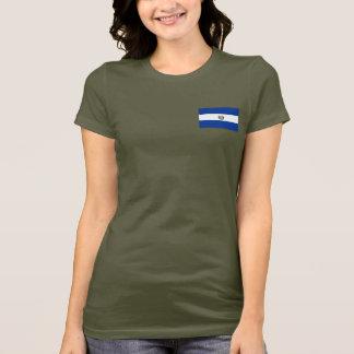 Camiseta T-shirt da DK da bandeira e do mapa de El Salvador