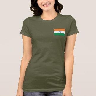 Camiseta T-shirt da DK da bandeira e do mapa de India