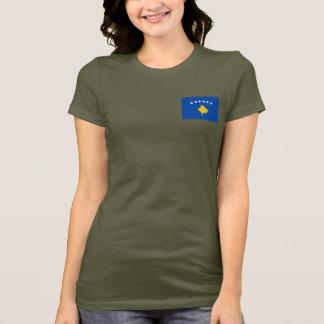 Camiseta T-shirt da DK da bandeira e do mapa de Kosovo