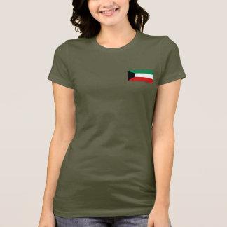 Camiseta T-shirt da DK da bandeira e do mapa de Kuwait