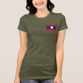 Camiseta T-shirt da DK da bandeira e do mapa de Laos