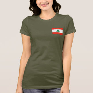 Camiseta T-shirt da DK da bandeira e do mapa de Líbano