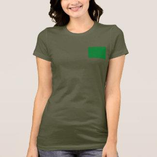 Camiseta T-shirt da DK da bandeira e do mapa de Líbia