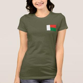 Camiseta T-shirt da DK da bandeira e do mapa de Madagascar