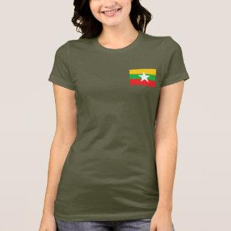 Camiseta T-shirt da DK da bandeira e do mapa de Myanmar