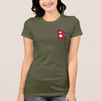 Camiseta T-shirt da DK da bandeira e do mapa de Nepal