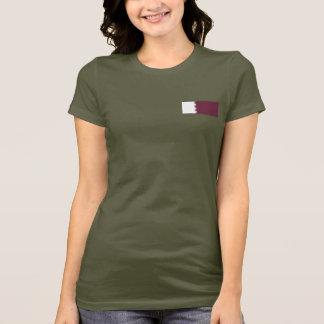 Camiseta T-shirt da DK da bandeira e do mapa de Qatar