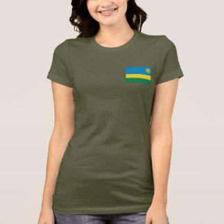 Camiseta T-shirt da DK da bandeira e do mapa de Rwanda