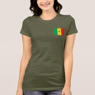 Camiseta T-shirt da DK da bandeira e do mapa de Senegal