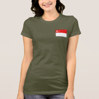 Camiseta T-shirt da DK da bandeira e do mapa de Singapore