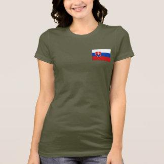 Camiseta T-shirt da DK da bandeira e do mapa de Slovakia