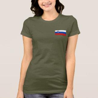 Camiseta T-shirt da DK da bandeira e do mapa de Slovenia