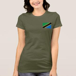 Camiseta T-shirt da DK da bandeira e do mapa de Tanzânia
