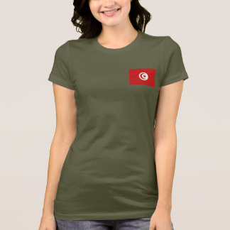 Camiseta T-shirt da DK da bandeira e do mapa de Tunísia