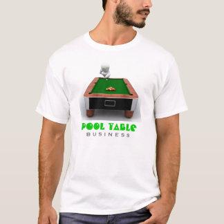Camiseta T-shirt da empresa da mesa de bilhar
