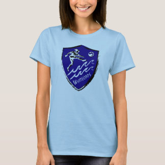 Camiseta T-shirt da equipe de futebol das mulheres