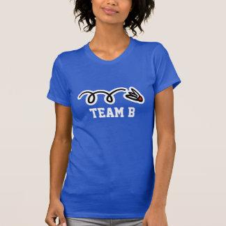 Camiseta T-shirt da equipe do badminton das senhoras com