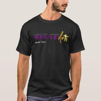 Camiseta T-shirt da equipe dos meios das artes do culto
