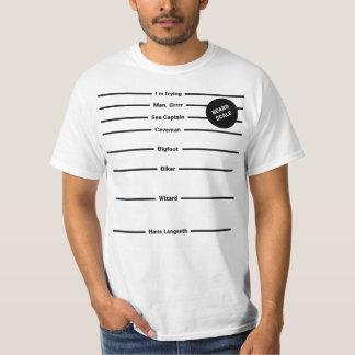 Camiseta T-shirt da escala da barba