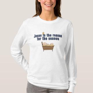 Camiseta T-shirt da estrela de Jesus do bebê do tema do