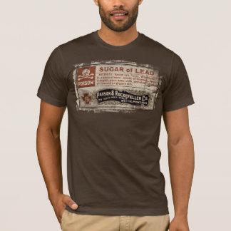 Camiseta T-shirt da etiqueta do veneno para o Dia das