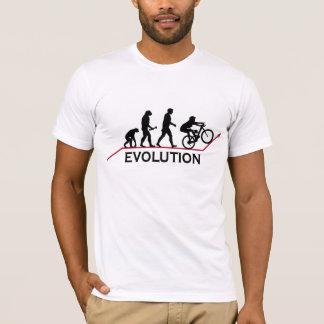 Camiseta T-shirt da evolução do Mountain bike