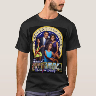 Camiseta t-shirt da família de Obama do iBODY ø