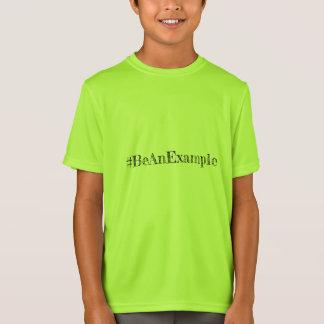 Camiseta T-shirt da fé do miúdo, peso leve, Esporte-Tek