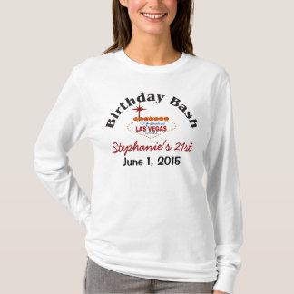 Camiseta T-shirt da fêmea do aniversário de 21 anos de Las