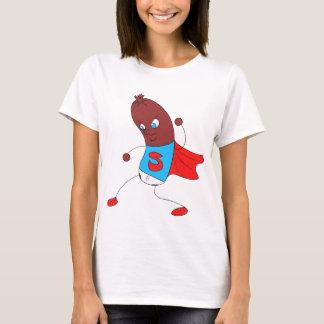 Camiseta T-shirt da fêmea do homem do salame