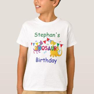 Camiseta T-shirt da festa de aniversário do dinossauro