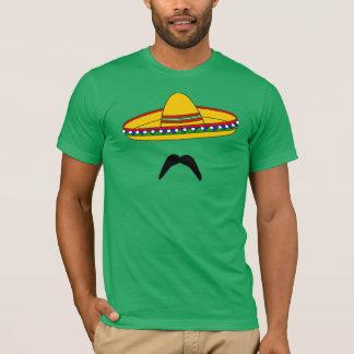 Camiseta T-shirt da festa de Cinco de Mayo do bigode e do