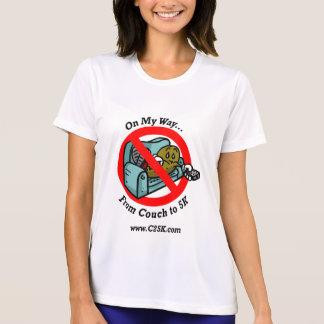Camiseta T-shirt da fibra do programa das senhoras C25K