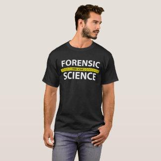 Camiseta T-shirt da fita da cena do crime da ciência
