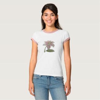 Camiseta t-shirt da flor branca