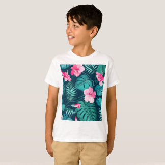 Camiseta T-shirt da flor da flor