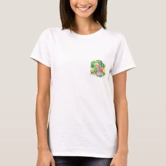 Camiseta T-shirt da flor do hibiscus
