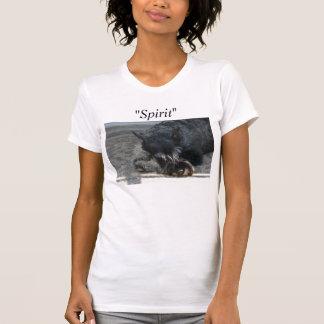 """Camiseta T-shirt da foto do Schnauzer padrão do """"espírito"""""""