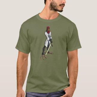 Camiseta T-shirt da galinha do samurai