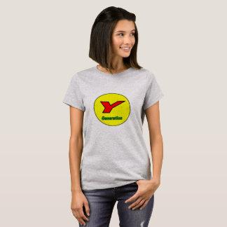 Camiseta T-shirt da geração Y das mulheres