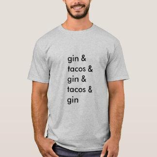 Camiseta T-shirt da gim e do Tacos (homens básicos)