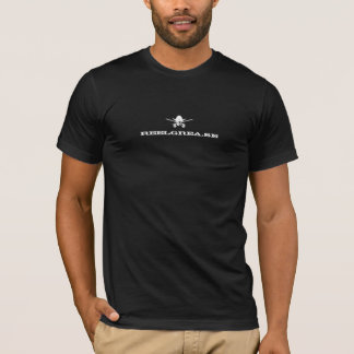 Camiseta T-shirt da graxa do carretel: Branco no preto
