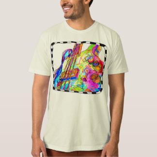 Camiseta T-shirt da guitarra baixa