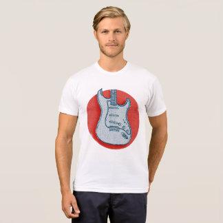 Camiseta T-shirt da guitarra da bandeira de Japão
