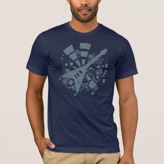 Camiseta T-shirt da guitarra do vôo V